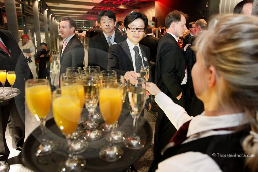Champaign reception during the European Office Products Awards