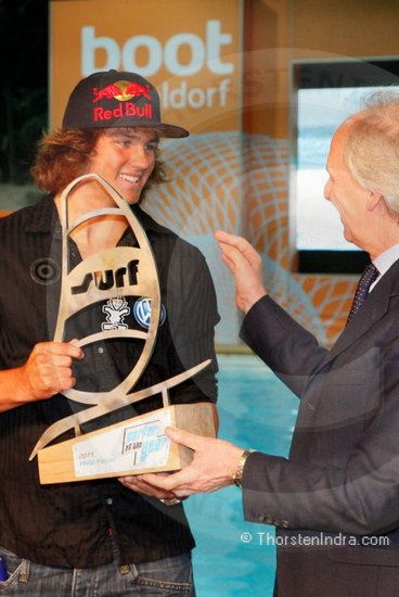 Philip Koester (professional windsurfer) receives Surfer of the year award