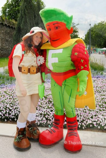 Flora & Florian - Floriade Mascots, to advertise the world horticultural expo