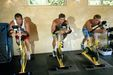 Micah, Jason, Robby doing weight training in the Fitness Studio of their trainer Scott Sanchez