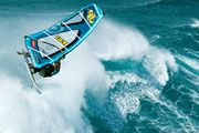 Helicopter shot of windsurfer in the waves in Hookipa/ Maui (Hawaii, USA) - Aerial photography