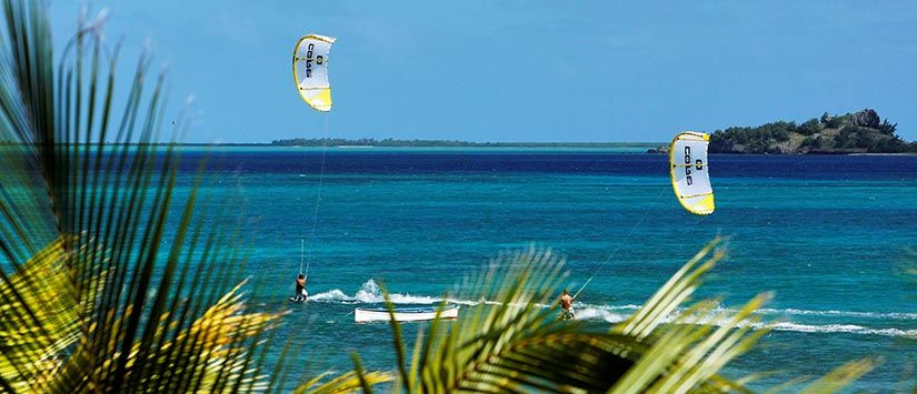 Kiteboarding in the islands of Rodrigues Rodriguez/ Mauritius. See more kiting action in the gallery