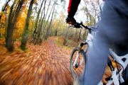 Mountainbiking photography - here as seen from the biker's perspective, with a mounted camera