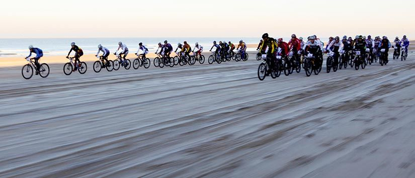 Mountainbike Beach Race in Holland. Click to see my MTB gallery.