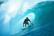 Surfing in the Tube in Indonesia (G-Land Garajagan)