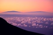 Landscapes Gallery - photo of Hawaii's Mauna Kea and Mauna Lo as seen from Maui